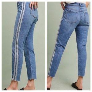 Anthropologie Pilcro Silver Stripe Jeans